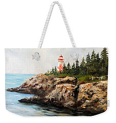 Weekender Tote Bag featuring the painting East Quoddy Head Light by Lee Piper