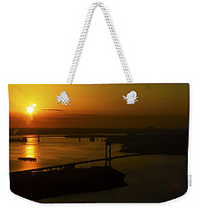 East River Sunrise Weekender Tote Bag