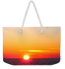 East. Sleep. Beach Sunrise Weekender Tote Bag