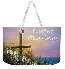 Easter Blessings Cross Weekender Tote Bag by Sandi OReilly