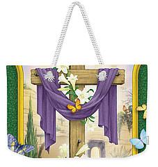 Easter Cross Weekender Tote Bag