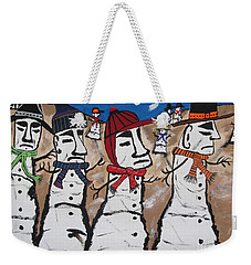 Easter Island Snow Men Weekender Tote Bag