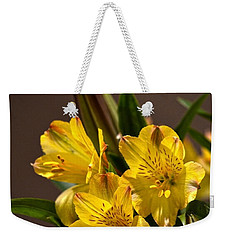 Easter Lilies Weekender Tote Bag by Sandi OReilly