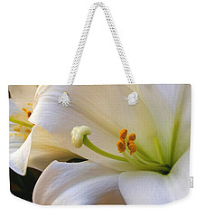 Weekender Tote Bag featuring the photograph Easter Lily by Bonnie Willis