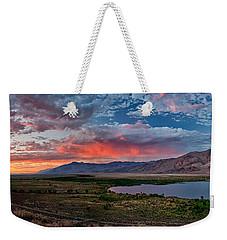 Eastern Sierra Sunset Weekender Tote Bag