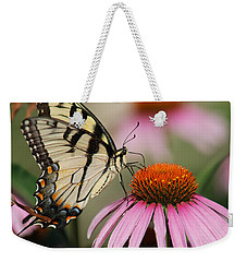 Swallowtail And Coneflower Weekender Tote Bag