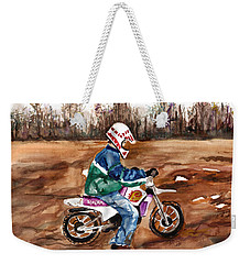 Easy Rider Weekender Tote Bag by Clara Sue Beym