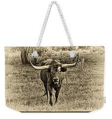 Eat Leaf Not Beef Sepia Weekender Tote Bag
