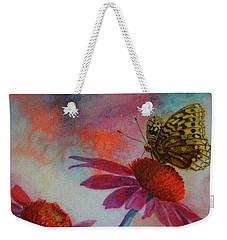 Echinacea Fritillaria Weekender Tote Bag
