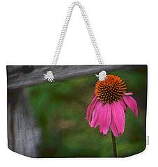 Weekender Tote Bag featuring the photograph Echinacea  by Nadalyn Larsen