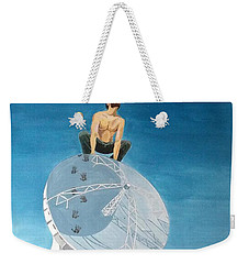 Weekender Tote Bag featuring the painting Echoes by Lazaro Hurtado