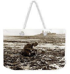 Ed Ricketts At Point Wilson Lighthouse In Port Townsend Wa 1930 Weekender Tote Bag