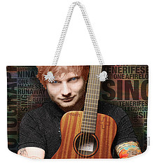 Ed Sheeran And Song Titles Weekender Tote Bag