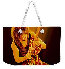 Eddie Van Halen Painting Weekender Tote Bag by Paul Meijering