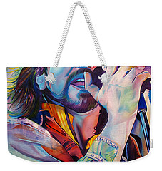 Eddie Vedder In Pink And Blue Weekender Tote Bag