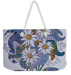 Weekender Tote Bag featuring the drawing Edelweiss by Megan Walsh