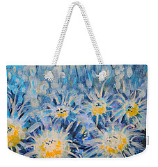 Weekender Tote Bag featuring the painting Edentian Garden by Holly Carmichael