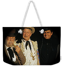 Weekender Tote Bag featuring the photograph Edgar Buchanan Chills Wills  Johnny Cash Porch Old Tucson Arizona 1971-2008 by David Lee Guss