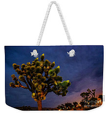 Edge Of Town Weekender Tote Bag by Angela J Wright