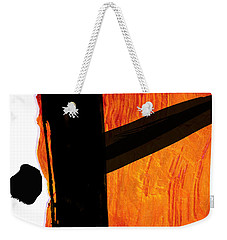 Weekender Tote Bag featuring the painting Edge by Paul Davenport