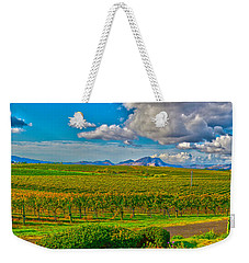 Edna Wineries Ca Weekender Tote Bag by Richard J Cassato