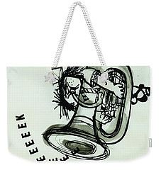 Eeeeeeek! Ink On Paper Weekender Tote Bag by Brenda Brin Booker