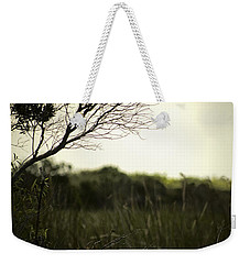 Egret At Sunset Weekender Tote Bag