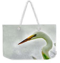 Egret Close-up Weekender Tote Bag