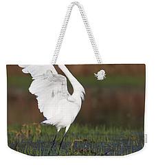 Egret Dancing Weekender Tote Bag by Bryan Keil