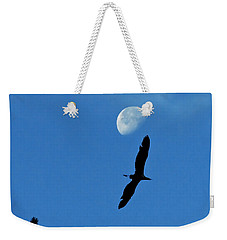 Weekender Tote Bag featuring the photograph Egret Flight by Charlotte Schafer