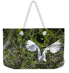 Weekender Tote Bag featuring the photograph Taking Off by Judith Morris