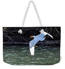 Egret In Flight Weekender Tote Bag