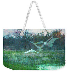 Egret In Retreat Weekender Tote Bag