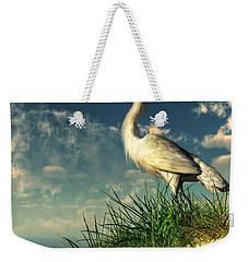 Egret In The Dunes Weekender Tote Bag by Daniel Eskridge