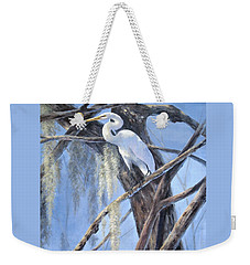 Egret Perch Weekender Tote Bag