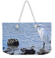 Egret Standing Perfectly Still Weekender Tote Bag