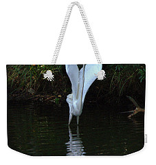 Weekender Tote Bag featuring the photograph Egret Take Off by Charlotte Schafer