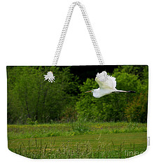 Egret's Flight Weekender Tote Bag