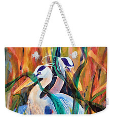 Egrets In Red 2            Weekender Tote Bag