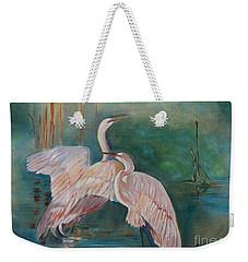 Egrets In The Mist Weekender Tote Bag