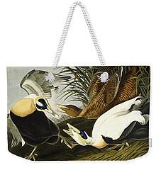 Eider Ducks Weekender Tote Bag by John James Audubon