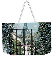 Eiffel Garden In Blue Weekender Tote Bag