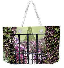 Eiffel Garden Weekender Tote Bag