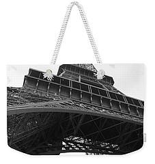 Eiffel Tower B/w Weekender Tote Bag by Jennifer Ancker