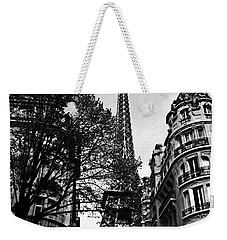Eiffel Tower Black And White Weekender Tote Bag