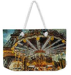 Eiffel Tower Carousel Weekender Tote Bag