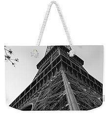 Eiffel Tower In Black And White Weekender Tote Bag by Jennifer Ancker