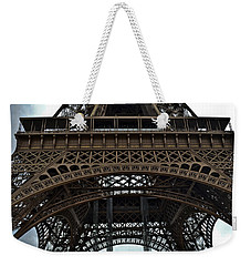 Weekender Tote Bag featuring the photograph Eiffel Tower - The Forgotten Names by Allen Sheffield