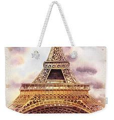 Eiffel Tower Vintage Art Weekender Tote Bag by Irina Sztukowski