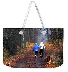 Eighty Four And Eight Six Weekender Tote Bag by Barbara McMahon